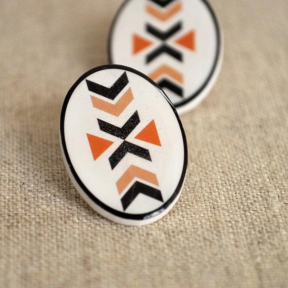 Aztec earrings