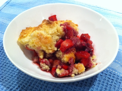 Apple and Berry Fruit Cobbler