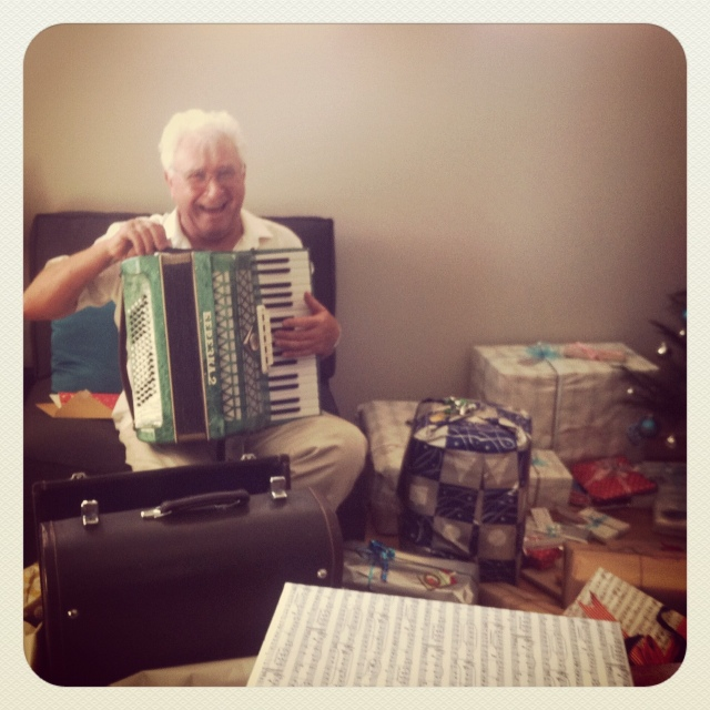 Grandpa and his accordion