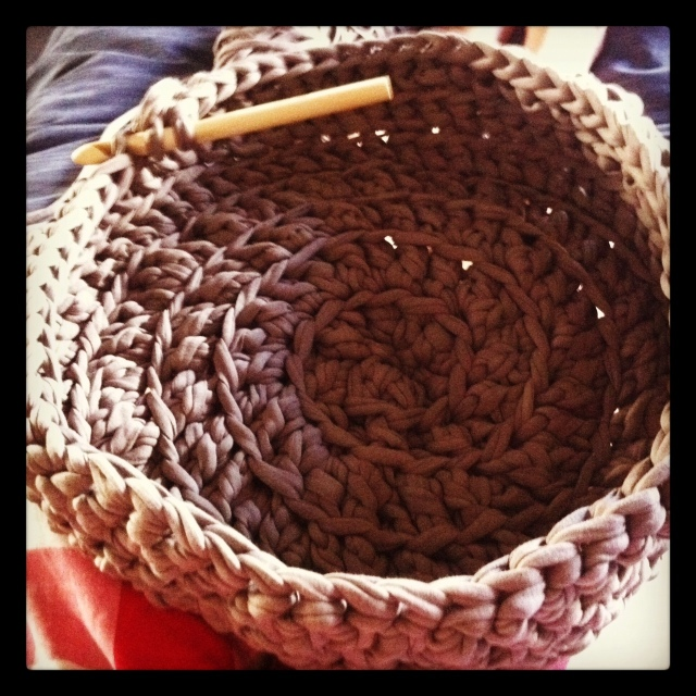 Crochet fruit basket