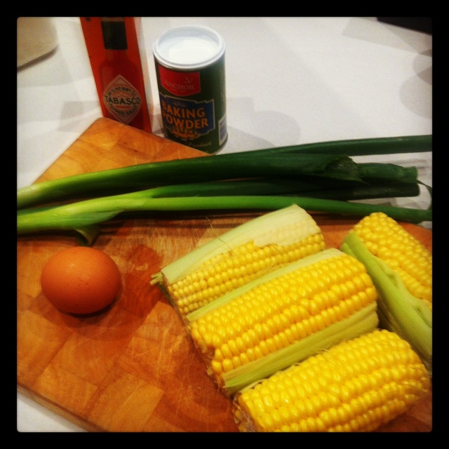 Making corn fritters