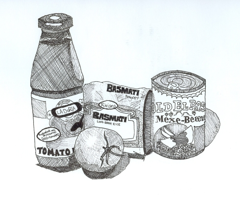 Ingredients drawing